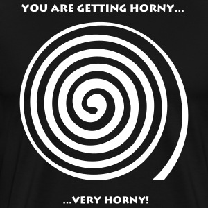 Black Getting Horny Men - Men's Premium T-Shirt