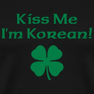 Black Kiss Me I'm Korean Men - Men's Premium T-Shirt