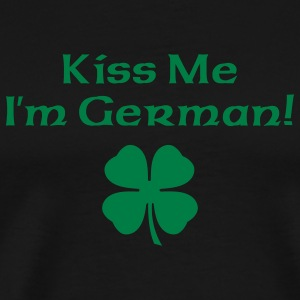 Black Kiss Me I'm German Men - Men's Premium T-Shirt