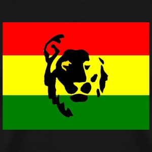Black Red Green Gold Lion Men - Men's Premium T-Shirt