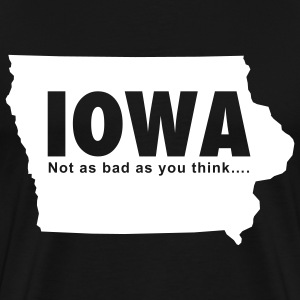Black Iowa Men - Men's Premium T-Shirt