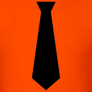 Orange black tie Men - Men's T-Shirt