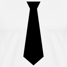 White black tie Men