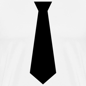 White black tie Men - Men's Premium T-Shirt