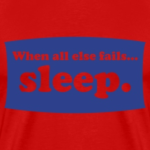 Red sleep Men - Men's Premium T-Shirt