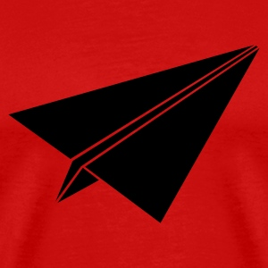 Red paperplane3 Men - Men's Premium T-Shirt
