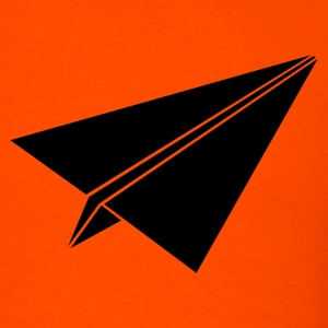 Orange paperplane3 Men - Men's T-Shirt