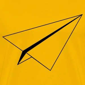 Yellow paperplane Men - Men's Premium T-Shirt