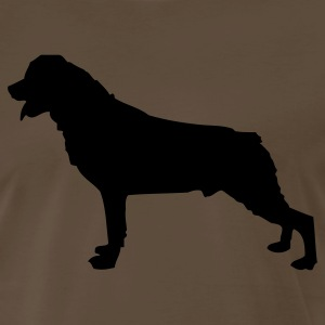 Chocolate rottwblack1 Men - Men's Premium T-Shirt