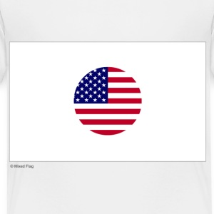 White Japan USA Mixed Flag Toddler Shirts - Toddler Premium T-Shirt