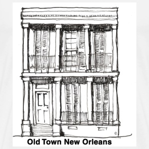 New Orleans Old Time House - Men's Premium T-Shirt
