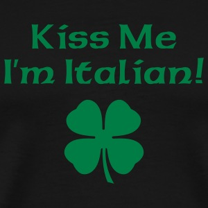 Black Kiss Me I'm Italian Men - Men's Premium T-Shirt
