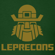 Design ~ Leprecons- Pot 0' Gold- Shiny Gold on Green