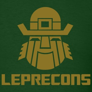 Leprecons- Pot O' Gold -Shiny Gold Logo - Men's T-Shirt