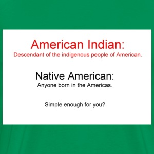 American Indian vs Native American - Men's Premium T-Shirt