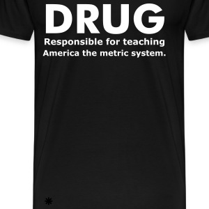 Drug Responsibility - Men's Heavyweight Cotton T-Shirt - Men's Premium T-Shirt