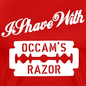 Red I shave with Occam's Razor Men - Men's Premium T-Shirt