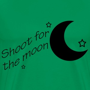 Bright green Shoot for the moon Men - Men's Premium T-Shirt