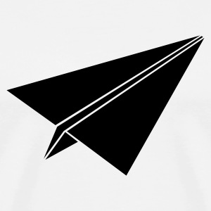 White paperplane3 Men - Men's Premium T-Shirt