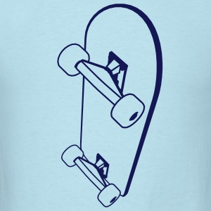 Skateboard Men Sky blue - Men's T-Shirt