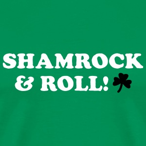 Bright green Shamrock & Roll Men - Men's Premium T-Shirt