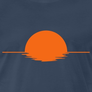 Navy Sundown Men - Men's Premium T-Shirt