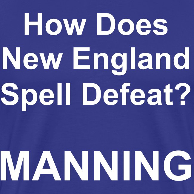 New England Spelling T-Shirt (Colt Blue)