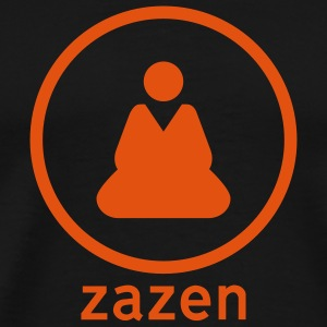 Black Zazen Sign Men - Men's Premium T-Shirt