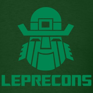 Leprecons-Light Green Flock on Forest Green - Men's T-Shirt