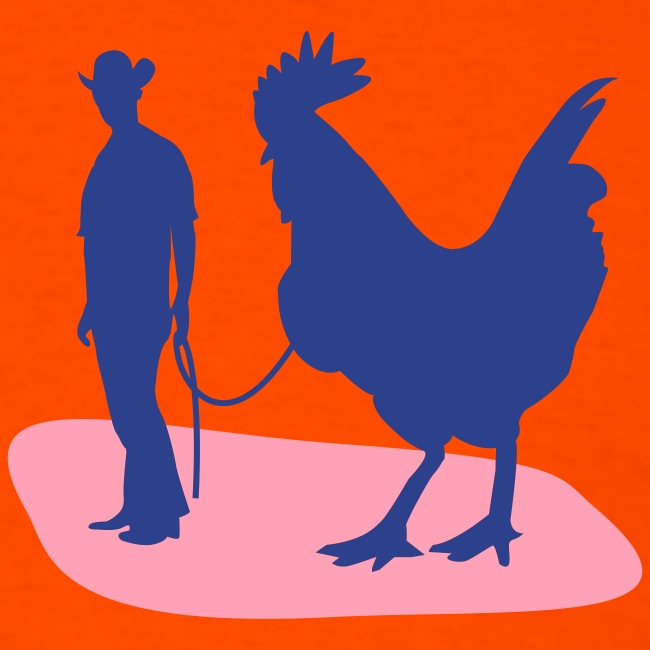 Guy with a big... ROOSTER