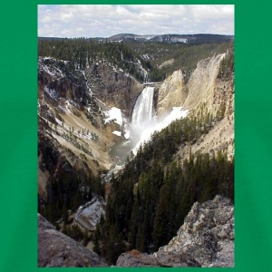 Bright green Lower Yellowstone Falls Men - Men's Premium T-Shirt