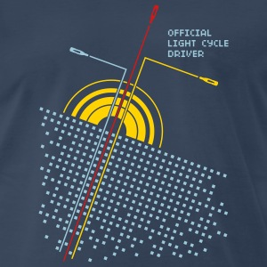 Navy Official light cycle driver Men - Men's Premium T-Shirt