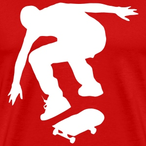 Skater Shape - Kickflip Men Red - Men's Premium T-Shirt