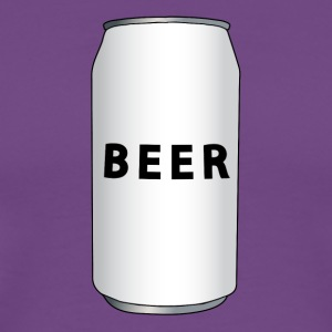 Purple Generic Beer Can Full Color Men - Men's Premium T-Shirt