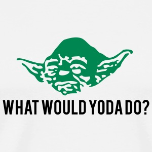 White What Would Yoda Do? T-Shirts - Men's Premium T-Shirt