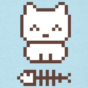 Sky blue Pixelkitten Men - Men's T-Shirt