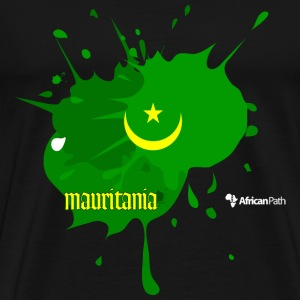 Black Mauritania Splash on Black Men - Men's Premium T-Shirt