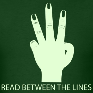 Forest green Read Between The Lines Men - Men's T-Shirt