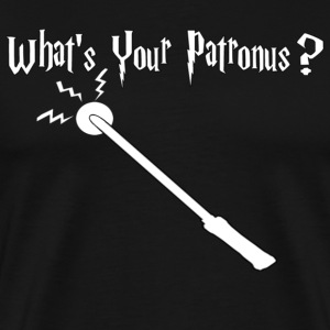 What's Your Patronus Black T-Shirt - Men's Premium T-Shirt