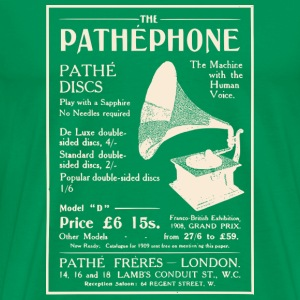 Pathephone Record Player - Men's Premium T-Shirt