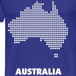 Royal blue Australia pixel map Men - Men's Premium T-Shirt