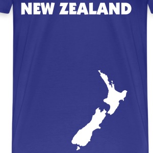 Royal blue New Zealand map Men - Men's Premium T-Shirt