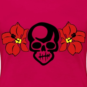 Fuchsia THE HULA SKULL by VAN TRIBE Women - Women's Premium T-Shirt
