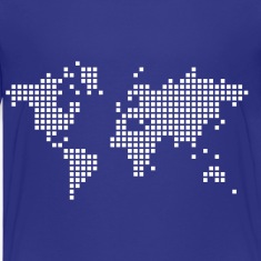 Royal blue earth world map Kids & Baby