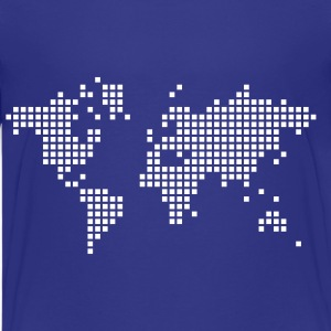 Royal blue earth world map Kids & Baby - Kids' Premium T-Shirt
