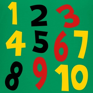 Kelly green Numbers 1 - 10 Without Background Kids & Baby - Kids' Premium T-Shirt