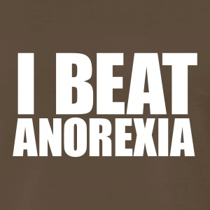 Chocolate I BEAT ANOREXIA Men - Men's Premium T-Shirt
