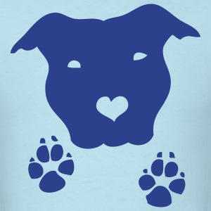 Sky blue staffiefeet Men - Men's T-Shirt