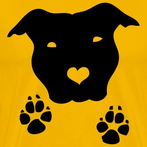 Yellow staffiefeet Men - Men's Premium T-Shirt