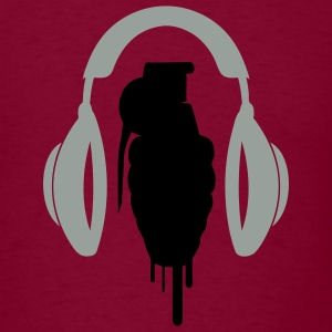 Burgundy hard_sound1 Men - Men's T-Shirt